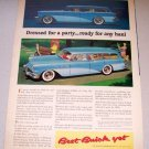 1956 Color Print Car Ad Buick Estate Wagon Automobile