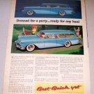 1956 Color Print Car Ad Buick Estate Wagon Automobile