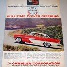 1956 Color Print Car Ad Plymouth Belvedere Sport Sedan Automobile