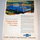 1958 Color Art Print Truck Ad Chevrolet Fleetside Pickup