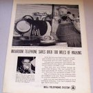 1958 Print Ad Bell Telephone System Milkroom Sylvester Powell Waseca Minn
