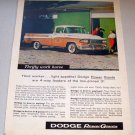 1958 Color Print Truck Ad Dodge 100 Pickup Hilltree Farm
