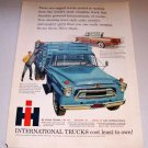 1958 Color Print Pickup Ad International A160 Stake Bed Truck