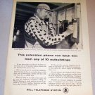 1958 Print Ad Bell Telephone System Poultryman Howard English Vineland New Jersey