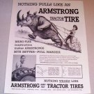 1955 Print Ad Armstrong Tractor Tires Rhinoceros Animal Art