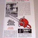 1955 Print Ad Homelite Model 5-30 Chain Saw Herbert Gordon Hein Waterloo Wisconsin