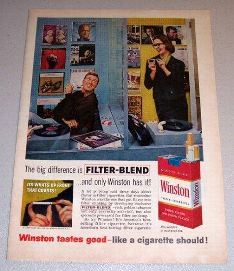 1960 Color Print Tobacco Ad Winston Cigarettes