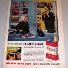 1960 Color Print Tobacco Ad Winston Cigarettes