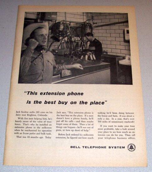 1960 Print Ad Bell Telephone System Jack Snidow Brighton Colorado