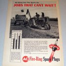 1960 Print Ad AC Spark Plugs John Deere 560 Farm Tractor