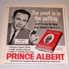 1960 Print Ad Prince Albert Pipe Tobacco Grand Ole Opry Celebrity Jim Reeves