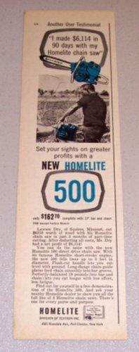 1961 Print Ad Homelite Chain Saw Lawson Dry Squires Missouri
