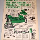 1961 Print Ad Western Auto Wizard 4 Cycle Deluxe Lawn Mower