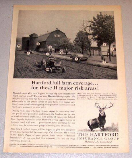 1961 Print Ad The Hartford Insurance Group Full Farm Coverage