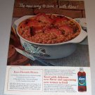 1966 Color Print Ad Karo Syrup Fireside Beans Recipe