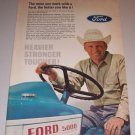 1966 Color Print Ad Ford 5000 Farm Tractor