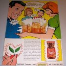 1966 Color Print Ad Instant Tender Leaf Tea Cartoon Art