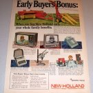 1968 Color Print Ad New Holland Baler Forage Harvester Farm Implement