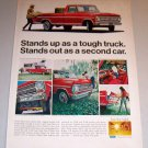 1968 Color Print Ad Red Ford Pickup Truck