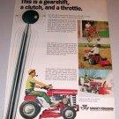 1968 Color Print Ad MF Massey Ferguson Hydra Speed 12 Lawn Tractor