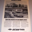 1968 Print Ad Chevrolet Pickup Trucks