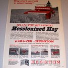 1968 Color Print Ad Hesston 310 Compact Windrow Farm Implement