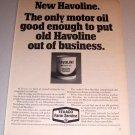 1968 Print Ad Texaco Farm Service Havoline Motor Oil