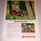 1968 Color Print Ad Simplicity Sovereign 3012 Landlord 2110 Garden Tractors
