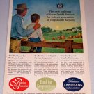 1964 Color Print Ad Farm Credit Service Farning Art