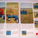 1964 Color Print Ad Ford Farming Tractor Implements