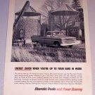 1964 Print Ad Chevrolet Pickup Truck Corn Silo