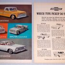 1964 Color Print Ad Chevrolet Trucks