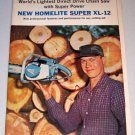 1964 Color 6 Page Print Ad Homelite Super XL-12 Chain Saw and Circular Saw