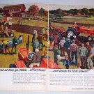 1964 Allis Chalmers Tractors Field Day Farming Art Color Print Ad