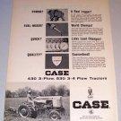 1964 Case Case-O-Matic 530 Farm Tractor Print Ad