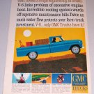 1964 GMC Pickup Truck Art Color Print Ad