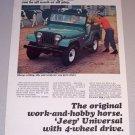 1965 Green Jeep Universal 4 Wheel Drive Vehicle Color Print Ad