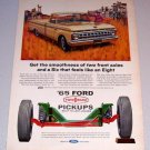 1965 Ford Twin I Beam Pickup Truck Rodeo Art Color Print Ad