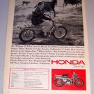 1965 Print Ad Honda Trail 90 Motorcycle William H. Tilley Lake County California