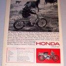 1965 Print Ad Honda Trail 90 Motorcycle William H. Tilley Lake County California