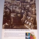 1965 Morton Salt Color Print Ad Country Store