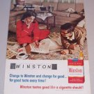 1965 Winston Cigarettes Tobacco Color Print Ad Crossword Puzzle