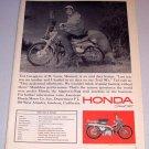 1965 Print Ad Honda Trail 90 Motorcycle Ted Cavagnaro St Louis Missouri