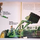 1965 John Deere 4020 Farm Tractor 2 Page Color Print Ad