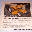 1962 Allis Chalmers Model B-1 Lawn Garden Tractor Print Ad