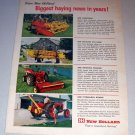 1962 New Holland Farm Implement Equipment Color Print Ad