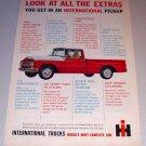 1962 IH International Pickup Truck Color Print Ad