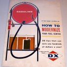 1963 DX Sunray Gasoline Oil 4 Page Color Print Ad