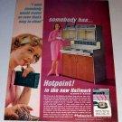 1963 Hotpoint Hallmark Range Color Print Ad