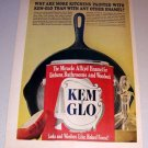 1963 Kem Glo Paint #8 Cast Iron Skillet Color Print Ad